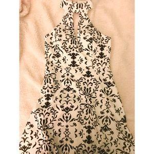 Dresses & Skirts - BLACK AND WHITE HIGH NECK COCKTAIL DRESS